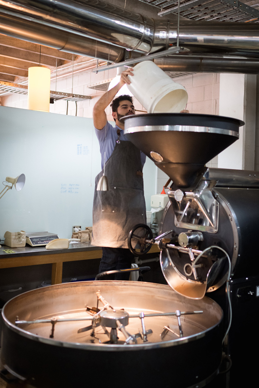 Wellington barista lucas coffee roaster