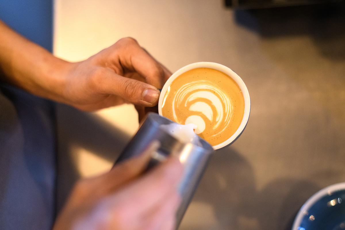 latte art barista training